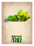 Kentucky Watercolor Map