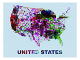 United States Color Splatter Map