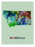 Montana Color Splatter Map