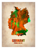 Germany Watercolor Map