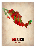 Mexico Watercolor Map