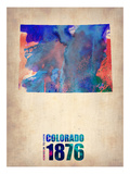 Colorado Watercolor Map