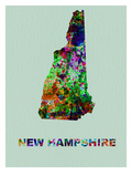 New Hampshire Color Splatter Map