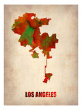 Los Angeles Watercolor Map