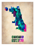 Chicago Watercolor Map
