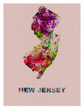 New Jersey Color Splatter Map