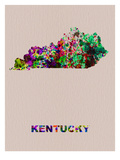 Kentucky Color Splatter Map