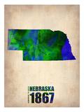 Nebraska Watercolor Map