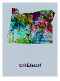 Oregon Color Splatter Map