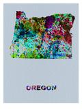Oregon Color Splatter Map