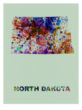 North Dakota Color Splatter Map