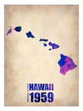 Hawaii Watercolor Map