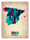 Spain Watercolor Map