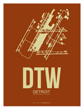 Dtw Detroit Poster 2