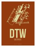 Dtw Detroit Poster 2