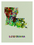 Louisiana Color Splatter Map