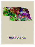 Nebraska Color Splatter Map