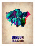 London Watercolor Map 2