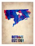 Detroit Watercolor Map