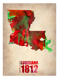 Louisiana Watercolor Map