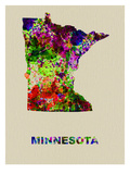 Minnesota Color Splatter Map