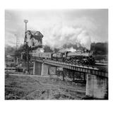A Great Northern Railway Train on the GNR Bridge across the Lake Washington Ship Canal in Ballar