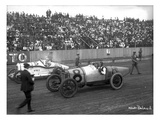 Earl Cooper and Eddie Hearne Driving Racing Cars  Tacoma Speedway (July 4  1918)