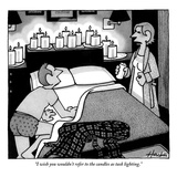 """I wish you wouldn't refer to the candles as task lighting"" - New Yorker Cartoon"