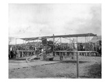 Harvey Crawford and Biplane at Tacoma (September 28  1912)