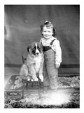 Boy and Dog  ca 1918