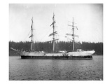 Three Masted Sailing Ship  Puget Sound (Undated)