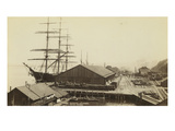 Ocean Wharf in Tacoma  Washington on Commencement Bay  1893