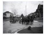 Seattle Fire Department Horse-Drawn Steam Pumper  1907