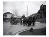 Seattle Fire Department Horse-Drawn Steam Pumper  1907