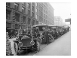 Automobiles at Second Avenue and Cherry Street  Seattle  1909