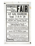 Peninsula Fair and Poultry Show  Gig Harbor (September 7-9  1928)