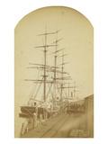 Ship Republic Discharging Tea at RR Wharves of NPRR / Tacoma  WT 1888