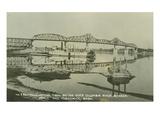 Yellowstone Trail Bridge over Columbia River  Between Pasco and Kennewick  Washington (ca 1922)