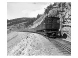 The Olympian  Electric Train in Montana Canyon  1916