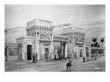 Drawing of Proposed Egyptian Style Facade  Alaska-Yukon-Pacific Exposition  Seattle  1908