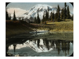 Mount Rainier and One of the Reflection Lakes  1917