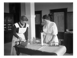 Two Girls in Chemistry Lab  Lincoln High School  Seattle  1909