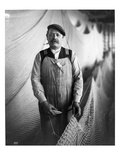 Alaskan Fisherman with Fishing Net  1916