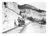 Deer Park Hand Car Crew  Montana  ca 1912