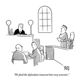 """We nd the defendant innocent but very neurotic"" - New Yorker Cartoon"