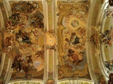 Vault of Nave  Abbey Church  Early 18th Century Baroque  Abbey of Melk  Austria