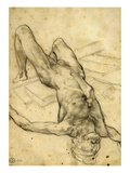 Man Falling Backwards  Charcoal  Study for the Raft of the Medusa  1819