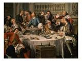 Le Déjeuner D'Huîtres (Oyster Dinner) 1735 (Detail)