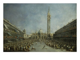 Saint Mark&#39;s Square  Venice  Italy  with Doge of Venice  Carried on Gondoliers&#39; Shoulders