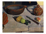 Fruit  Bowls and Knife  from Le Repas  the Meal  1891  Detail